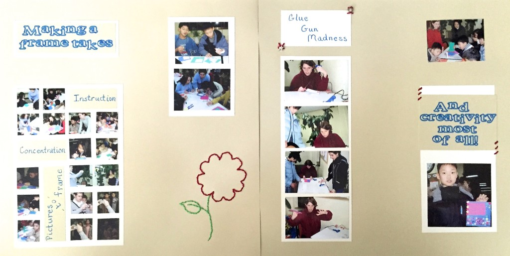 Crafting at a South Korean orphanage