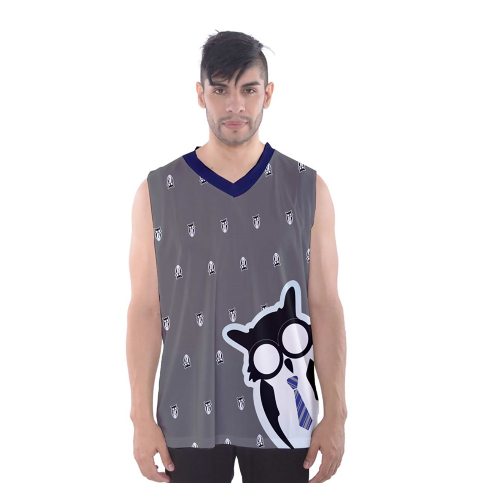 Blue/Gray Owl Men's Tank Top - Inspired by Ravenclaw