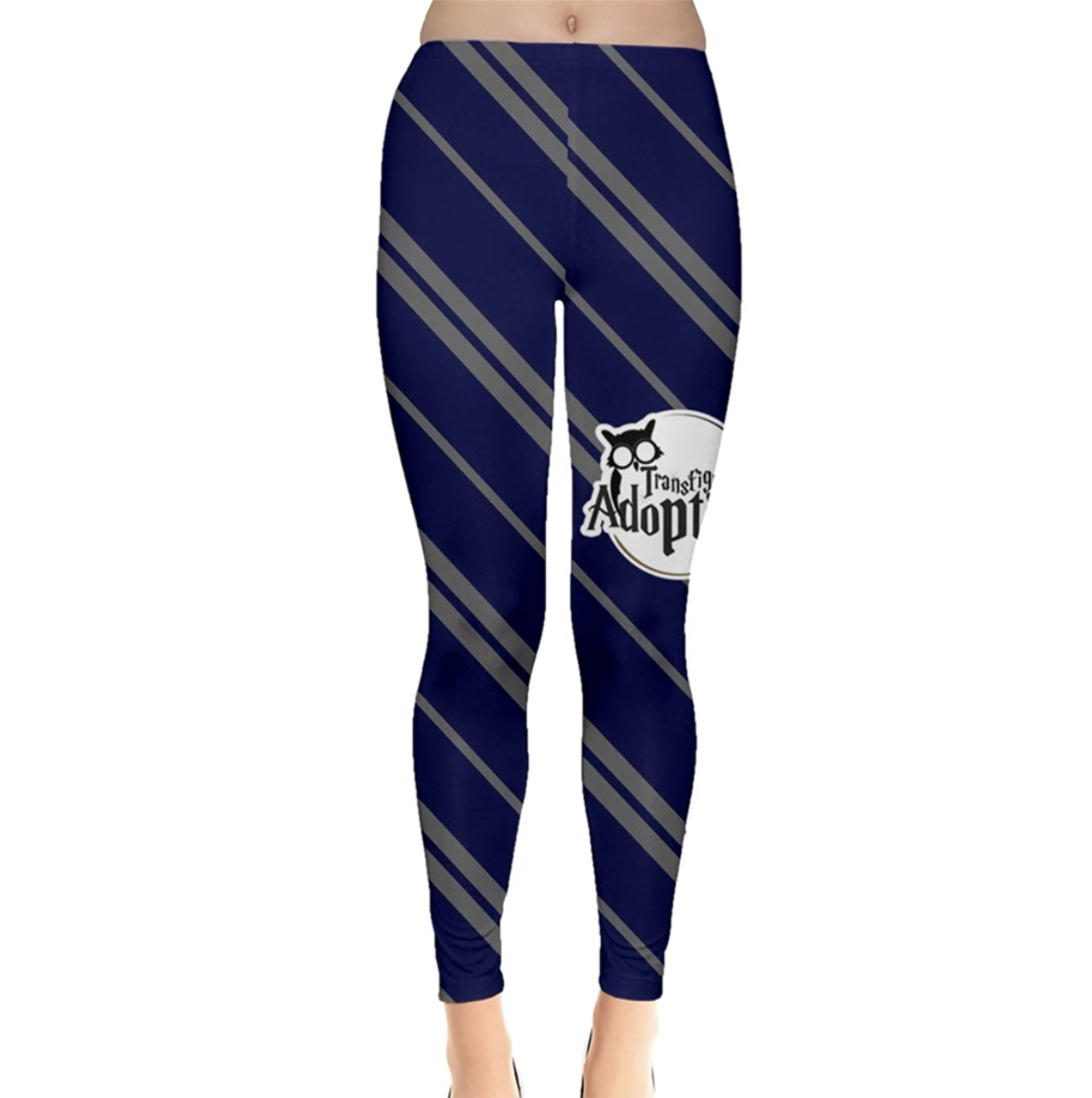 Blue & Gray Striped Leggings - Inspired by Ravenclaw