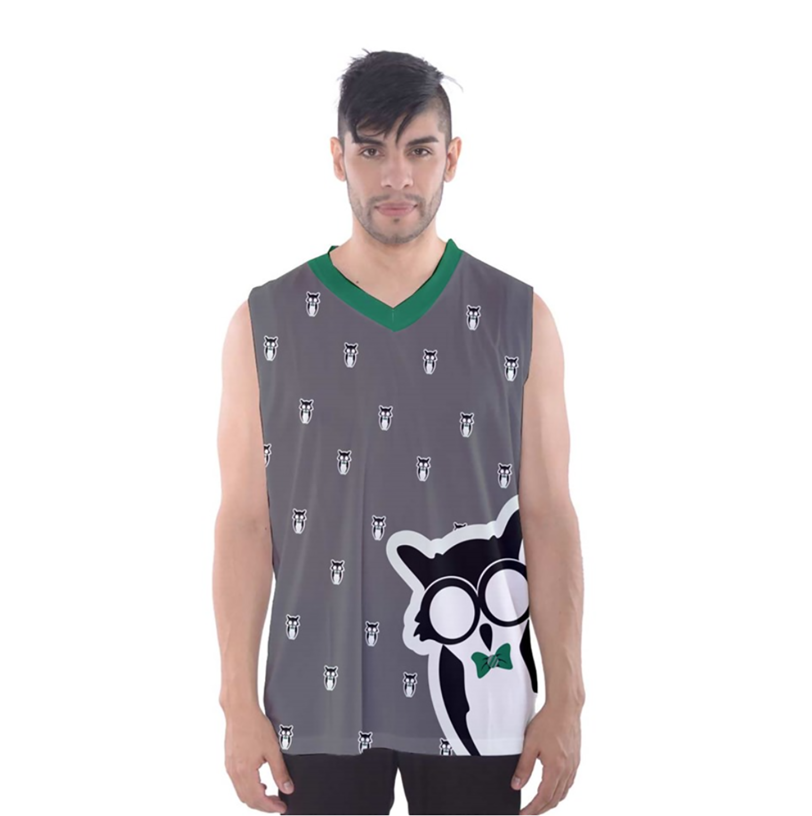 Green/Gray Owl Men's Tank Top - Inspired by Slytherin