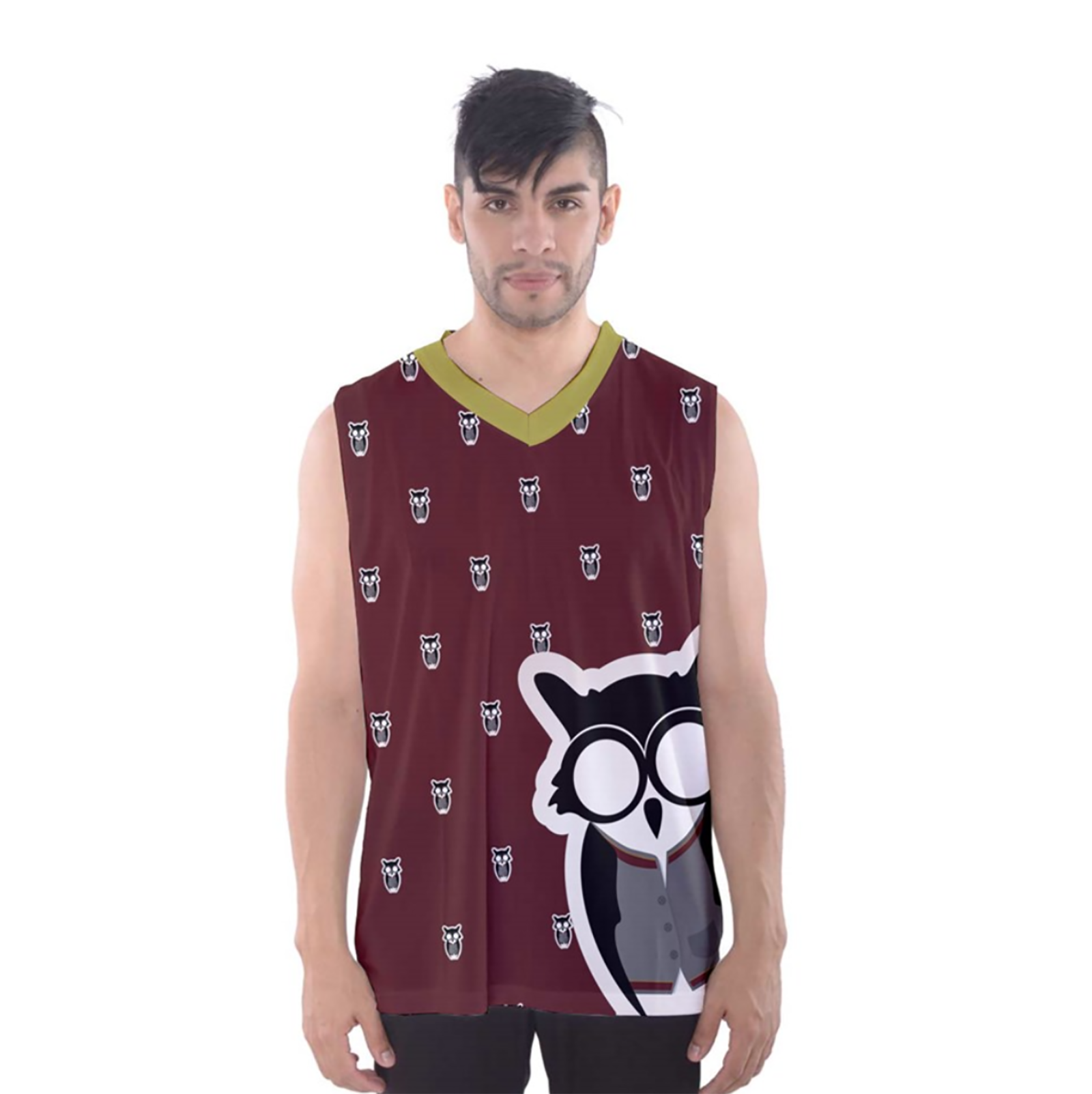 Red & Gold Owl Men's Tank Top - Inspired by Gryffindor