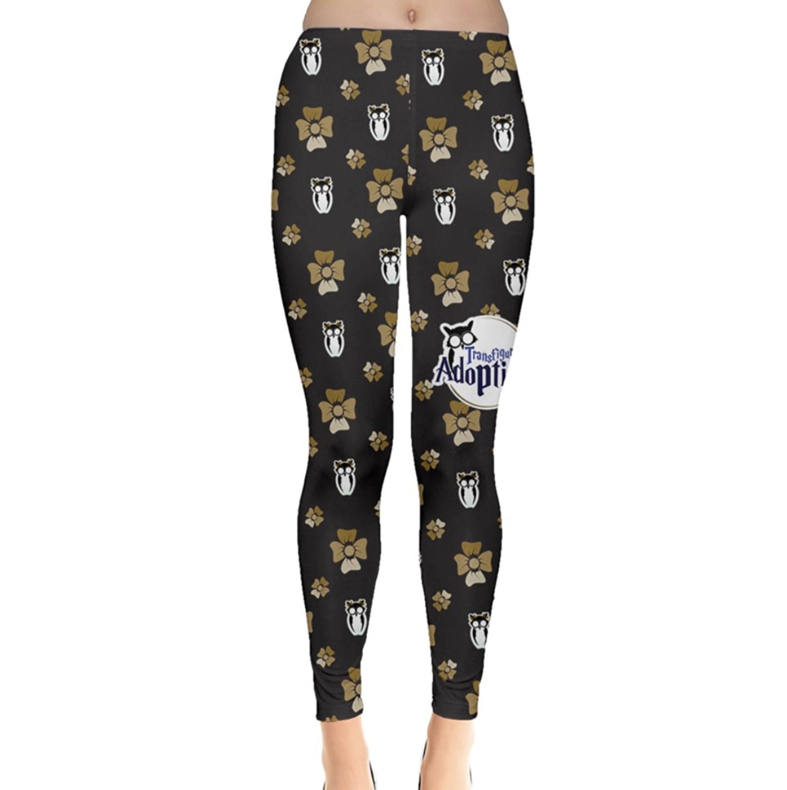 Yellow & Black Pattern Leggings - Inspired by Hufflepuff