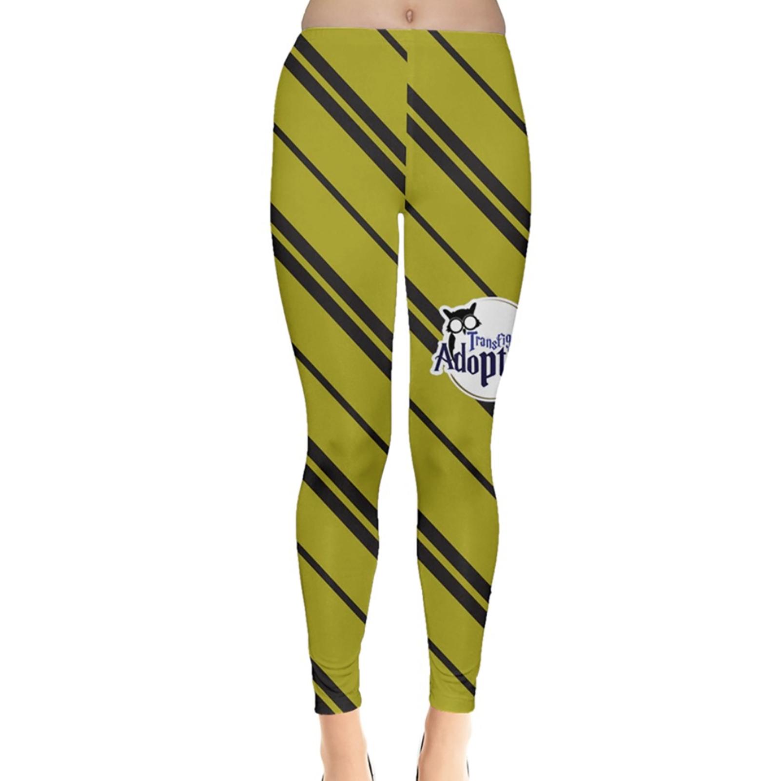 Yellow & Black Striped Leggings - Inspired by Hufflepuff