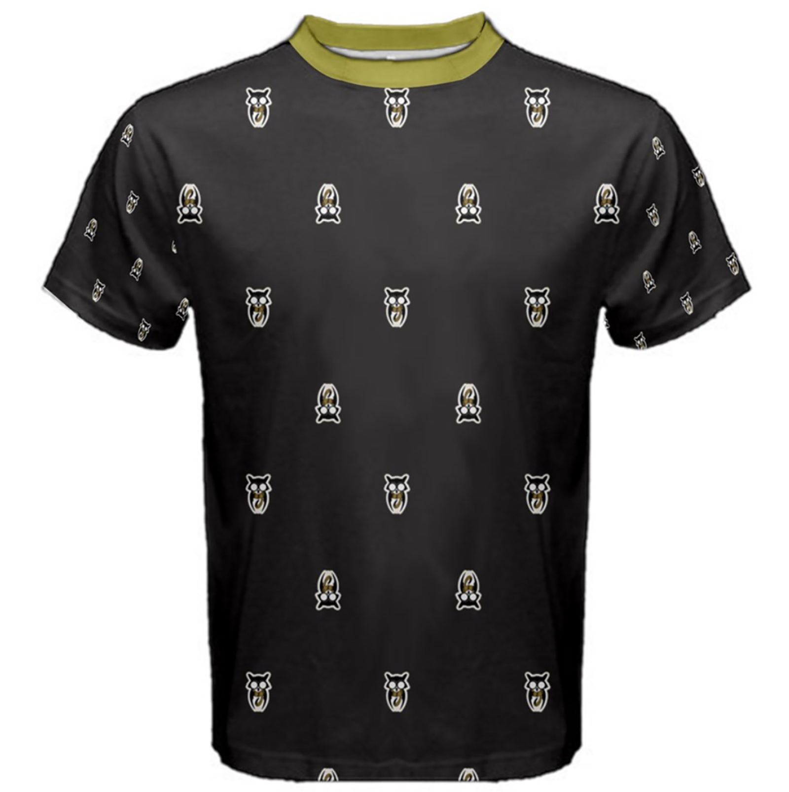 Owl Patterned (Unisex) Cotton Tee - Inspired by Hufflepuff House