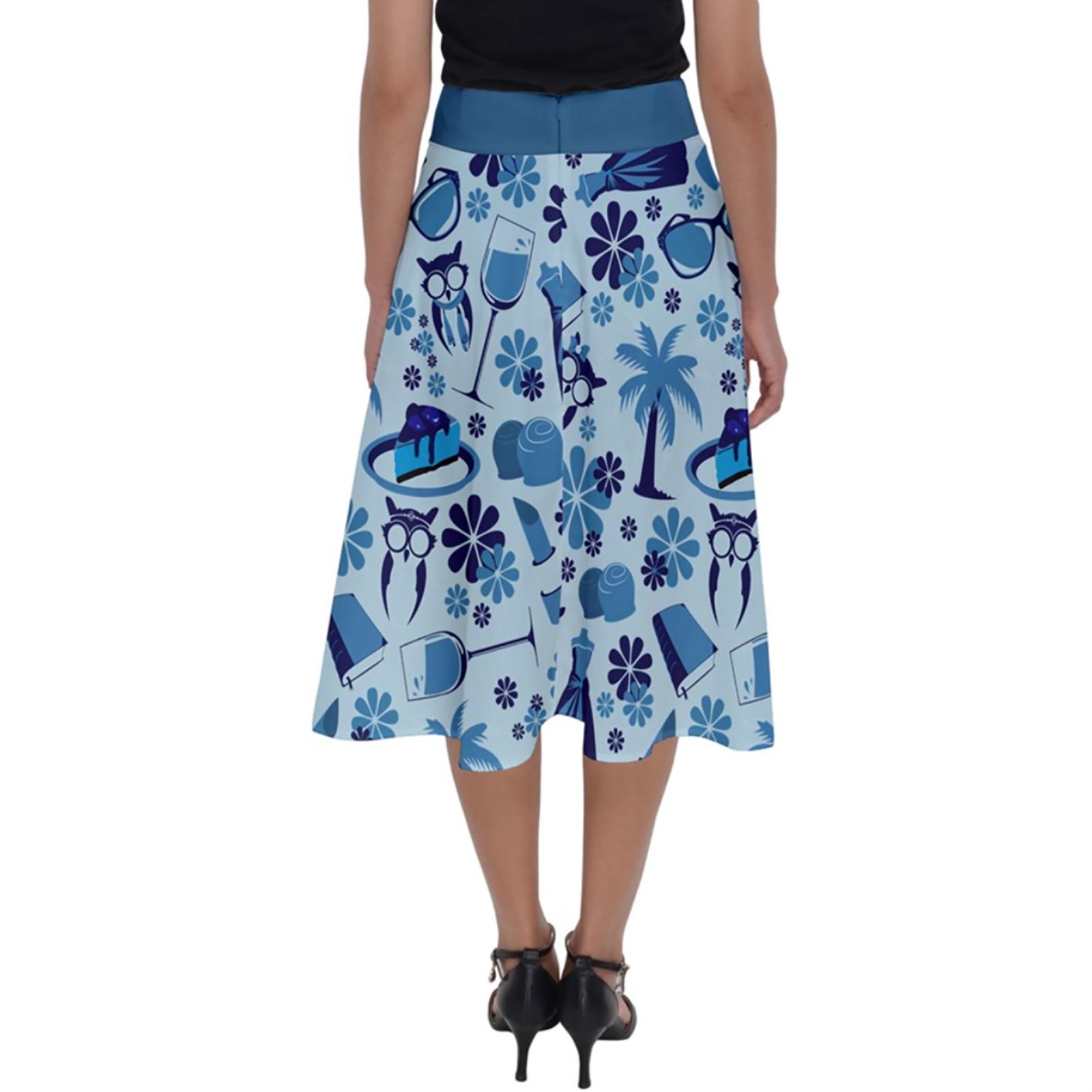 Self-Care Perfect Length Midi Skirt (Blue)