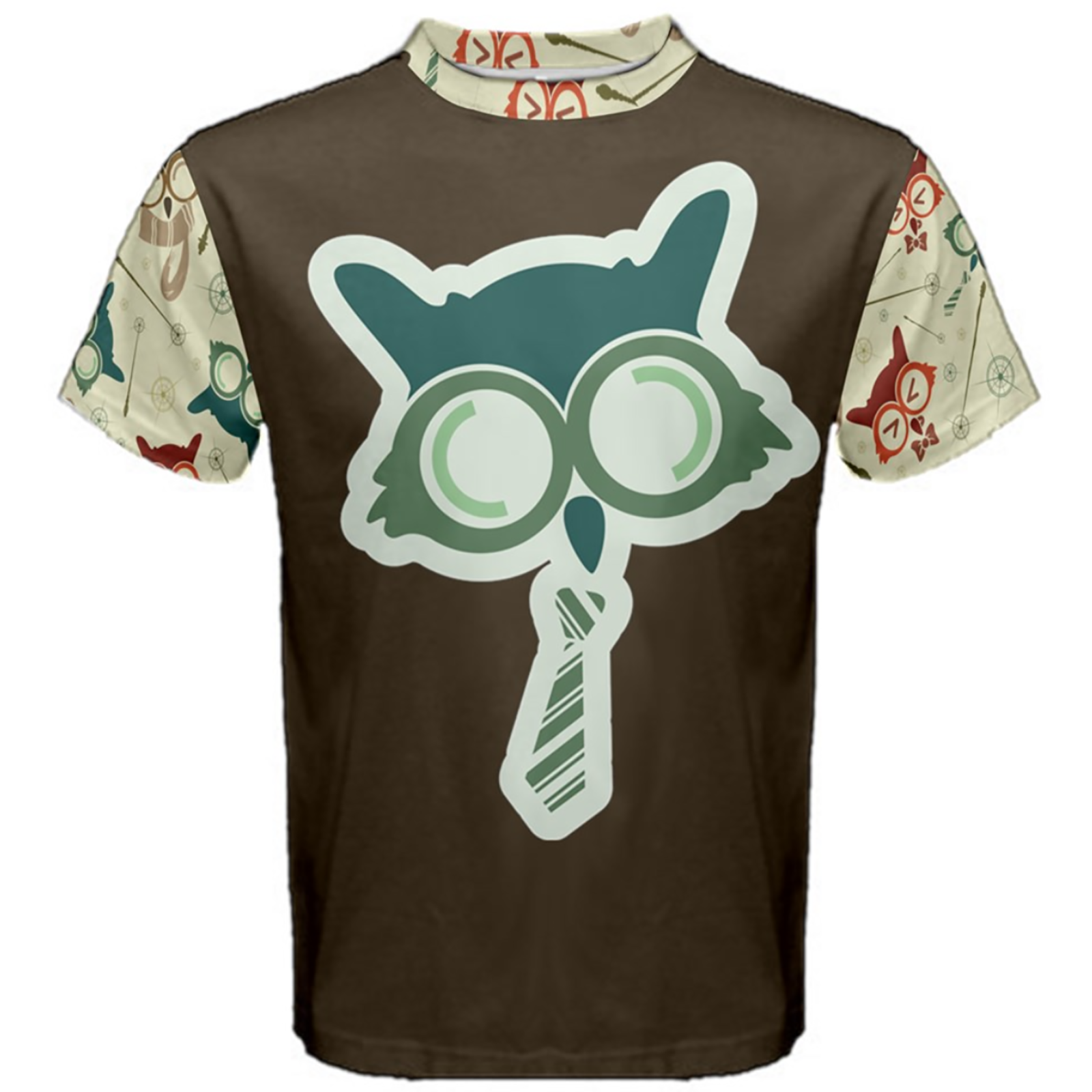 Vintage Emoji Owl Cotton Tee (Blue Emoji Owl)