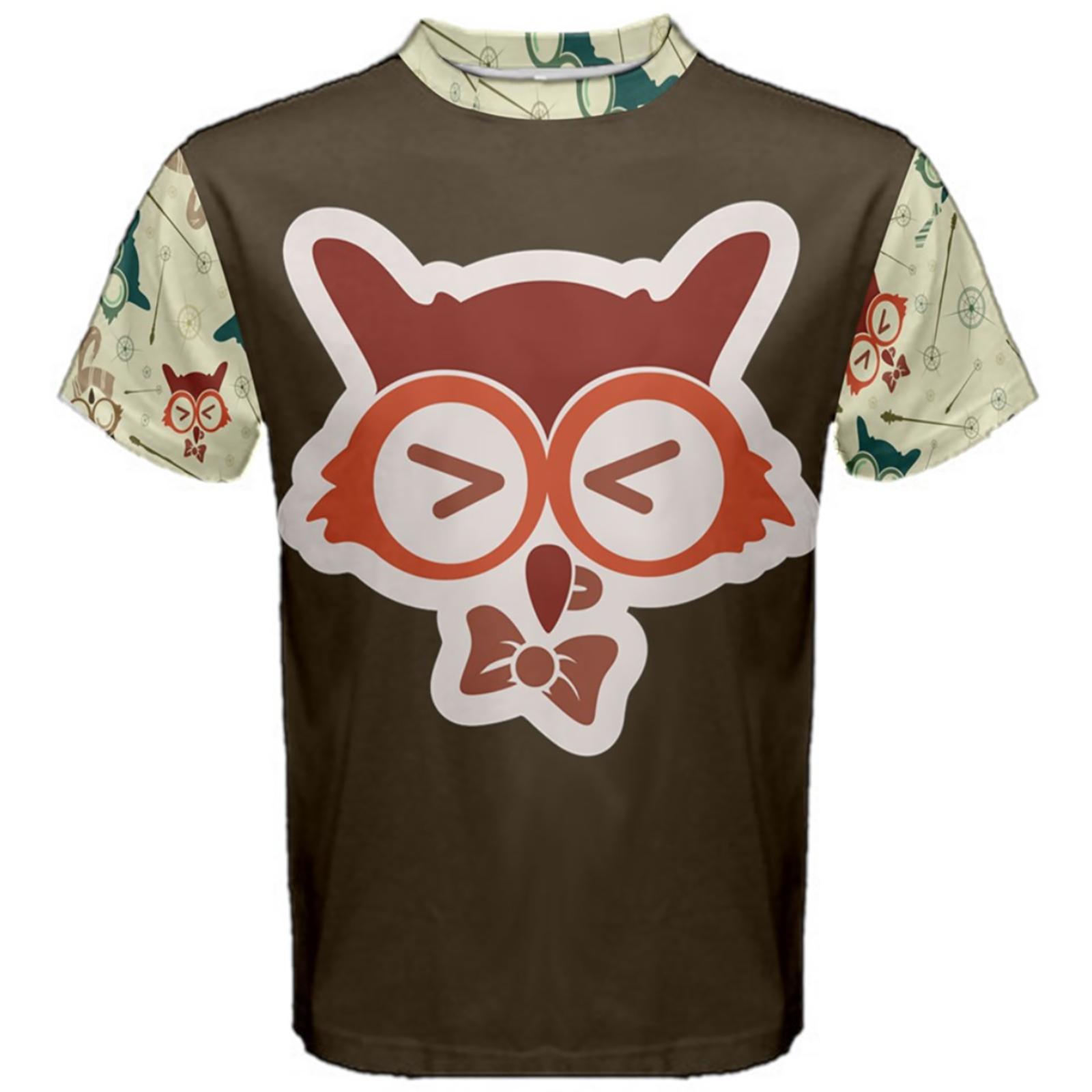 Vintage Emoji Owl Cotton Tee (Red Emoji Owl)