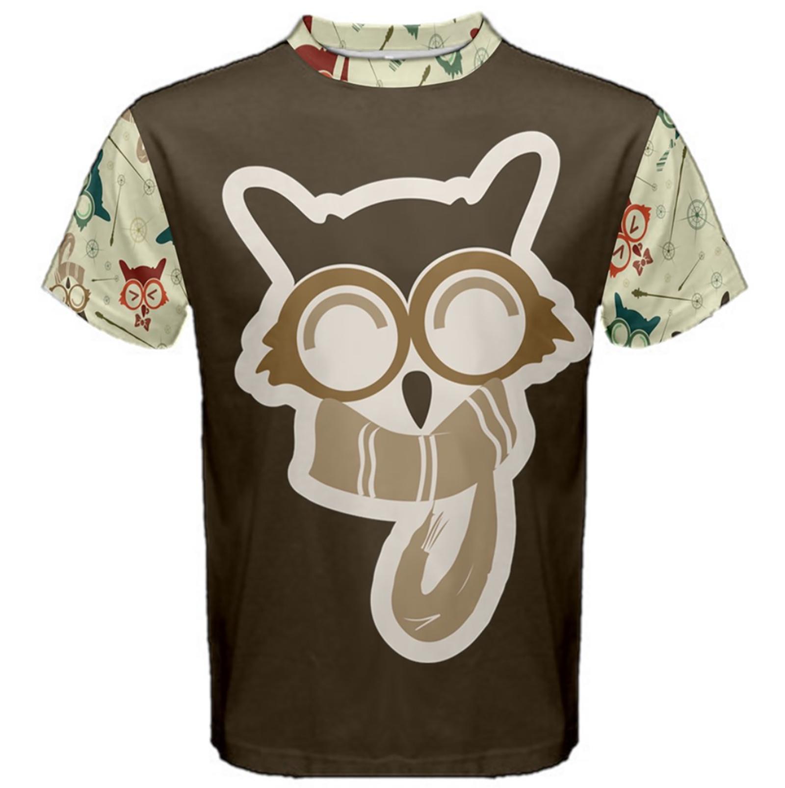 Vintage Emoji Owl Cotton Tee (Brown Emoji Owl)