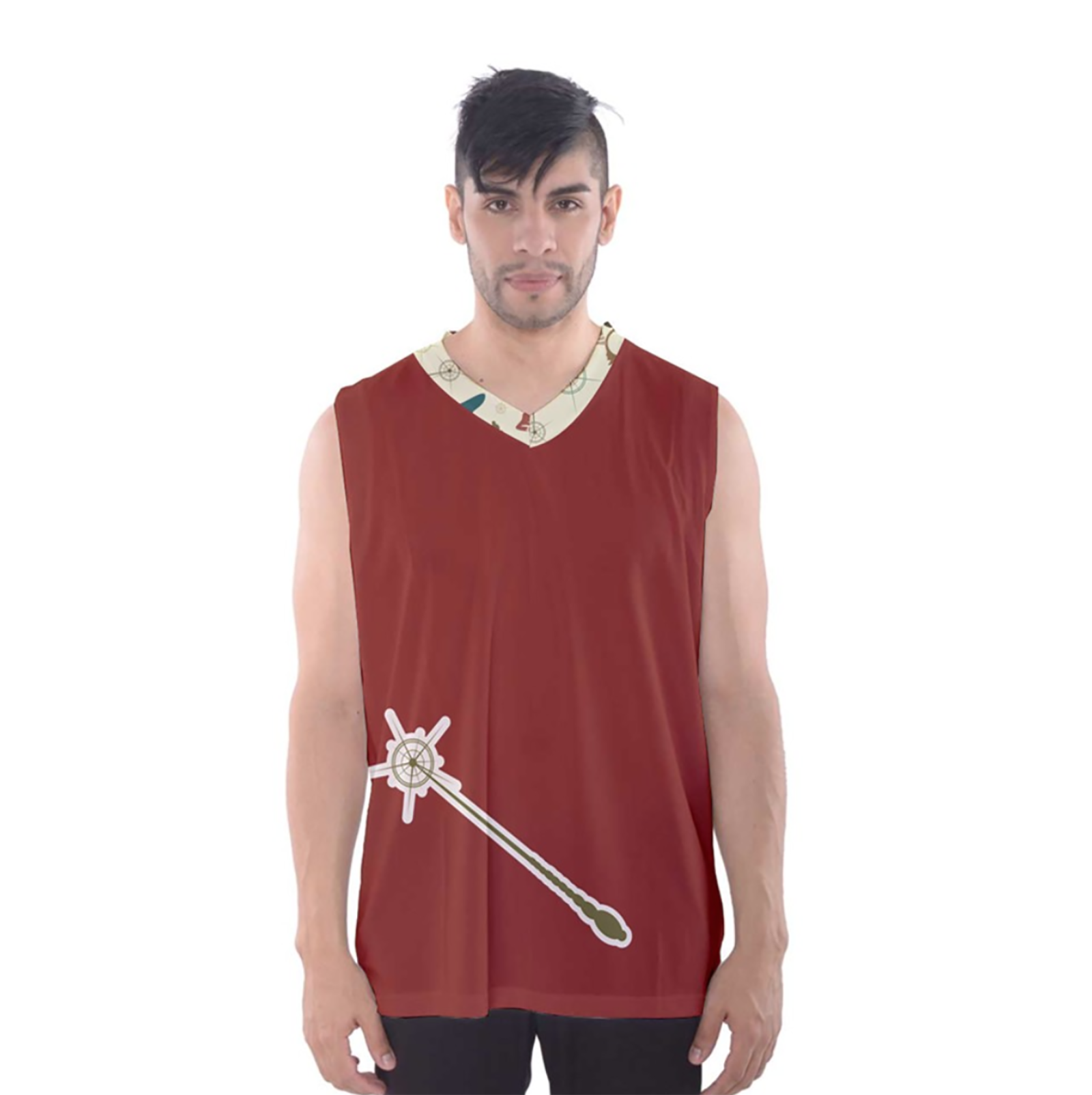 Vintage Emoji Owl Men's Tank Top (Red Wand)