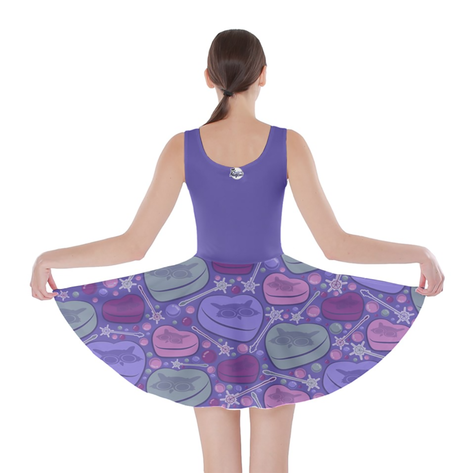 Charmed Pattern Skater Dress (Purple)