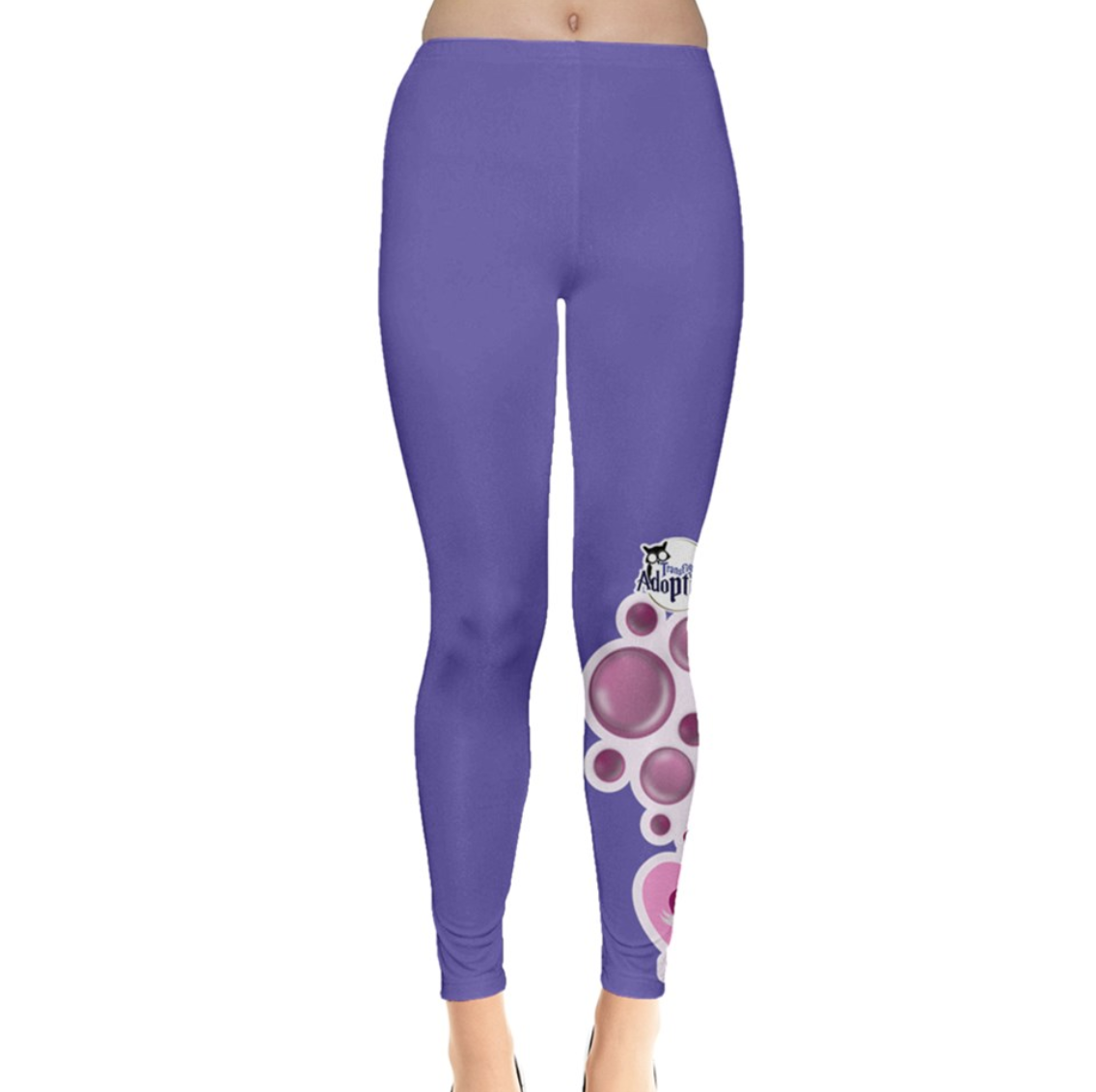 Charmed Leggings (Purple Solid w/Love Potion)