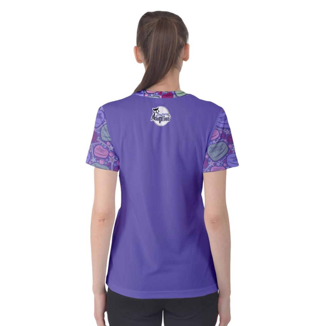 Charmed Women's Cotton Tee (Purple Solid Body)