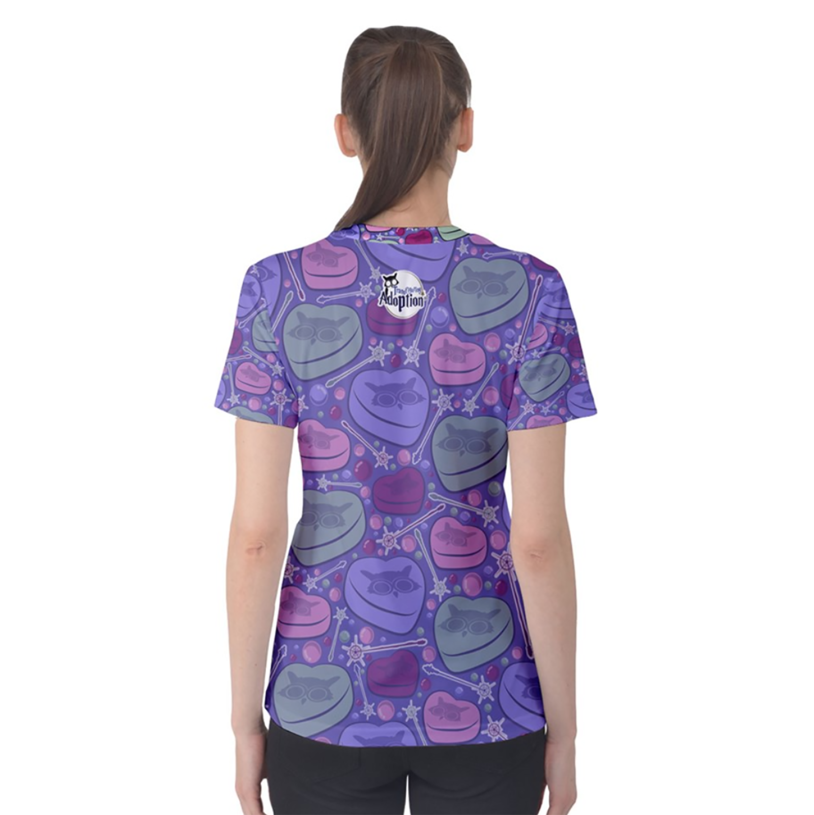 Charmed Women's Cotton Tee (Purple Patterned)