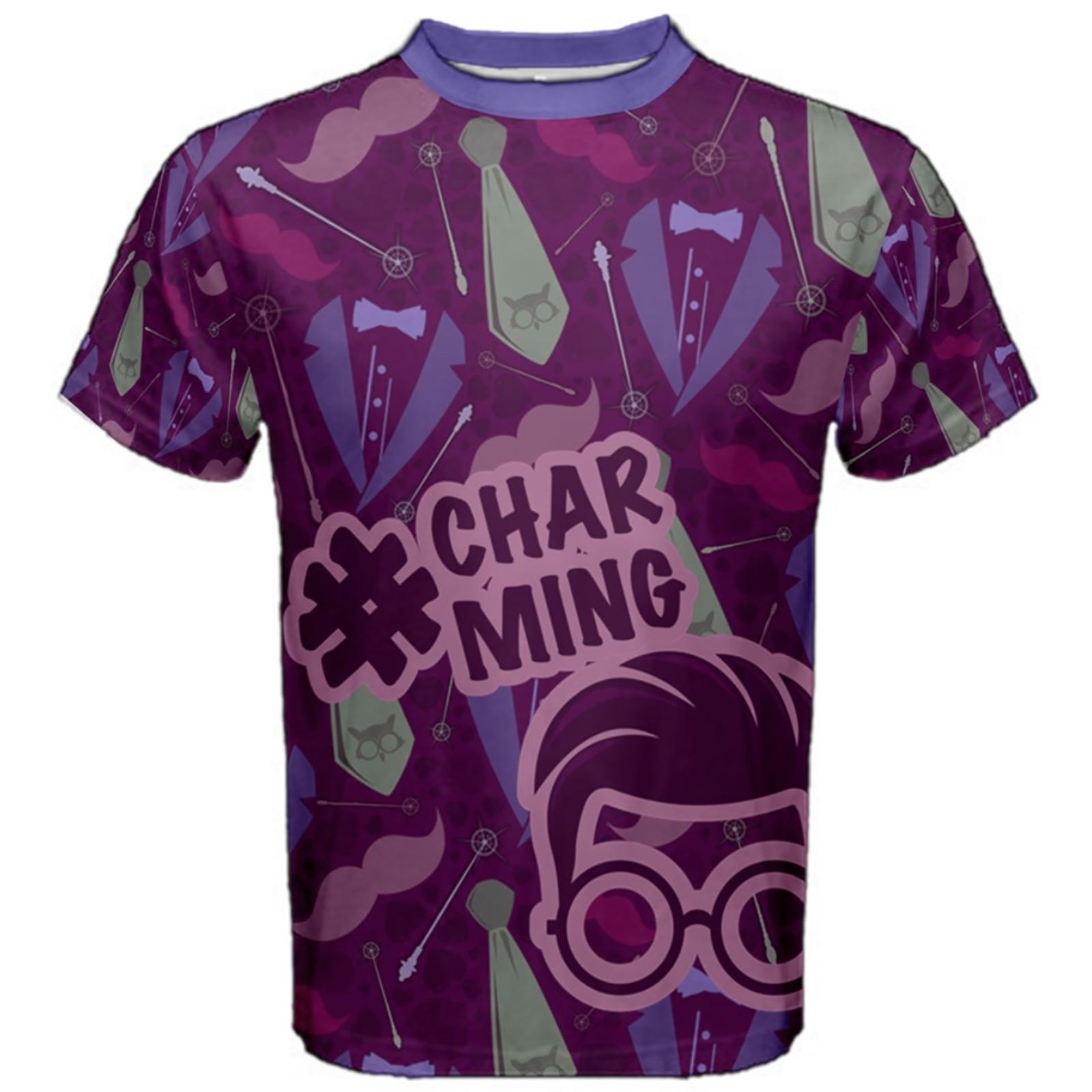 Charming Men's Cotton Tee (Patterned)
