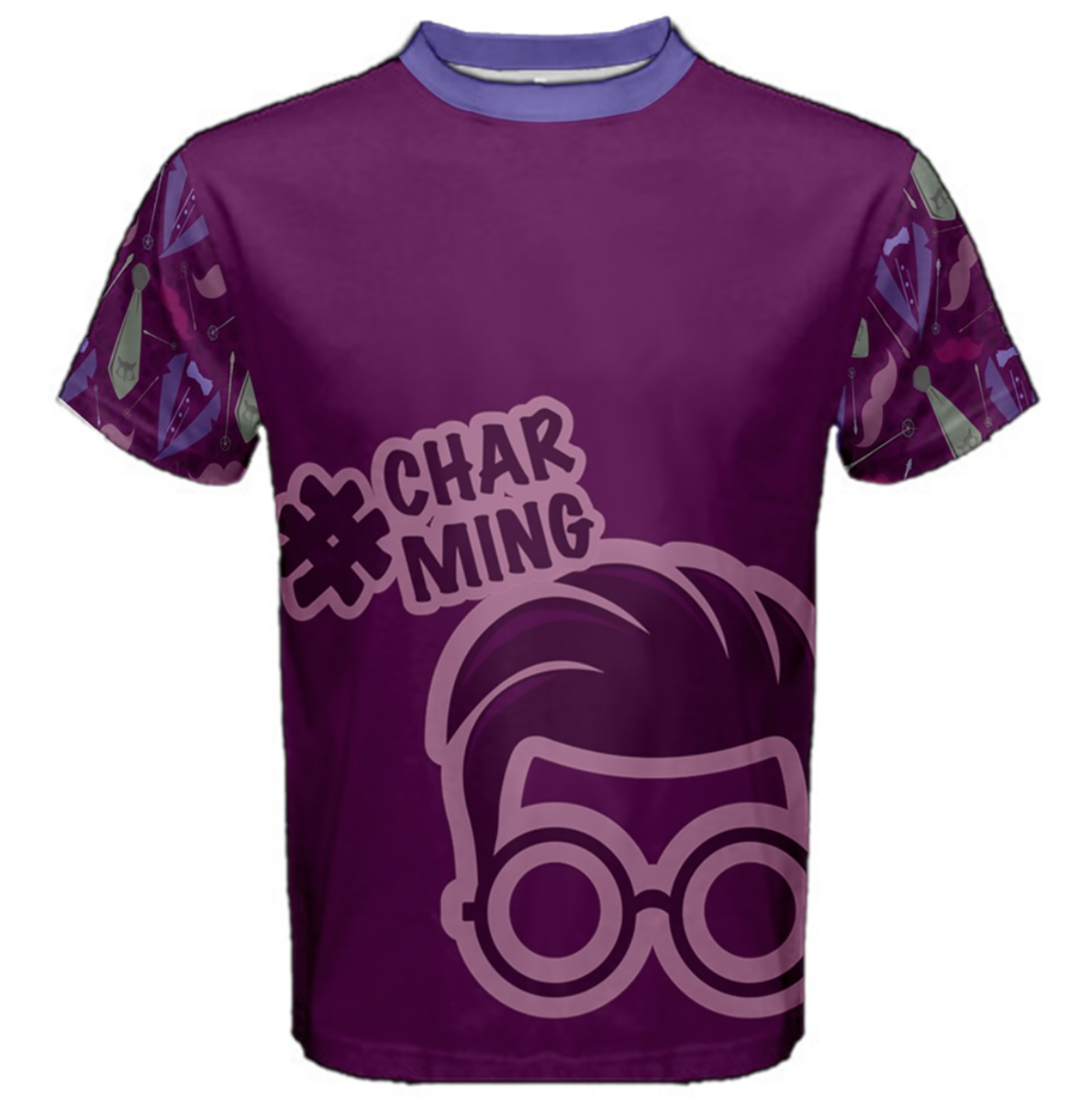 Charming Men's Cotton Tee (Solid Color Body)