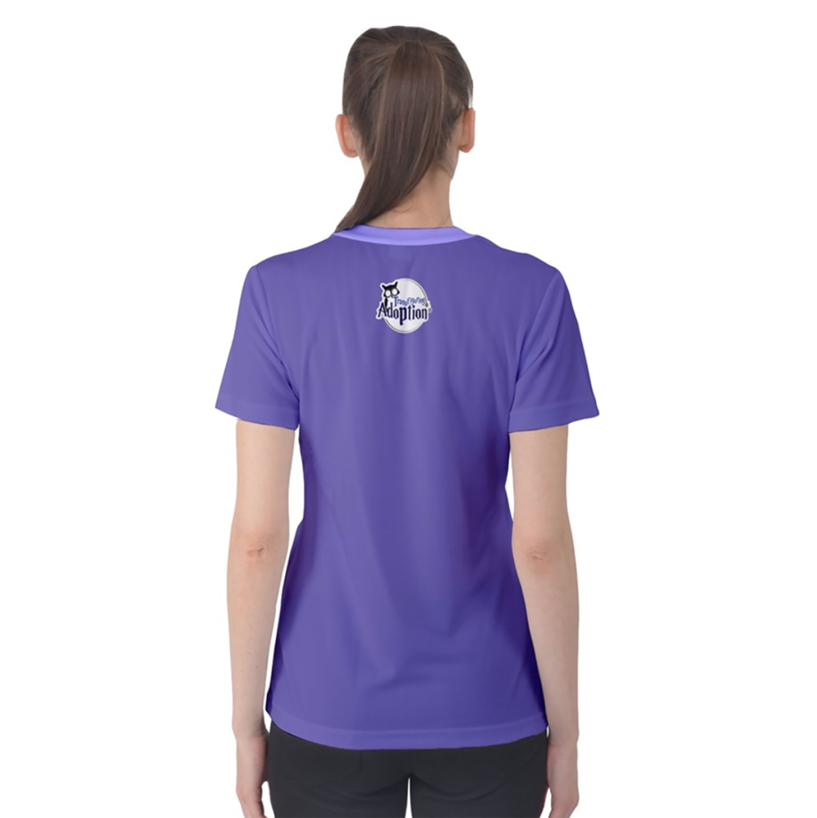 Charmed Women's Cotton Tee (Solid Purple Just Logo)