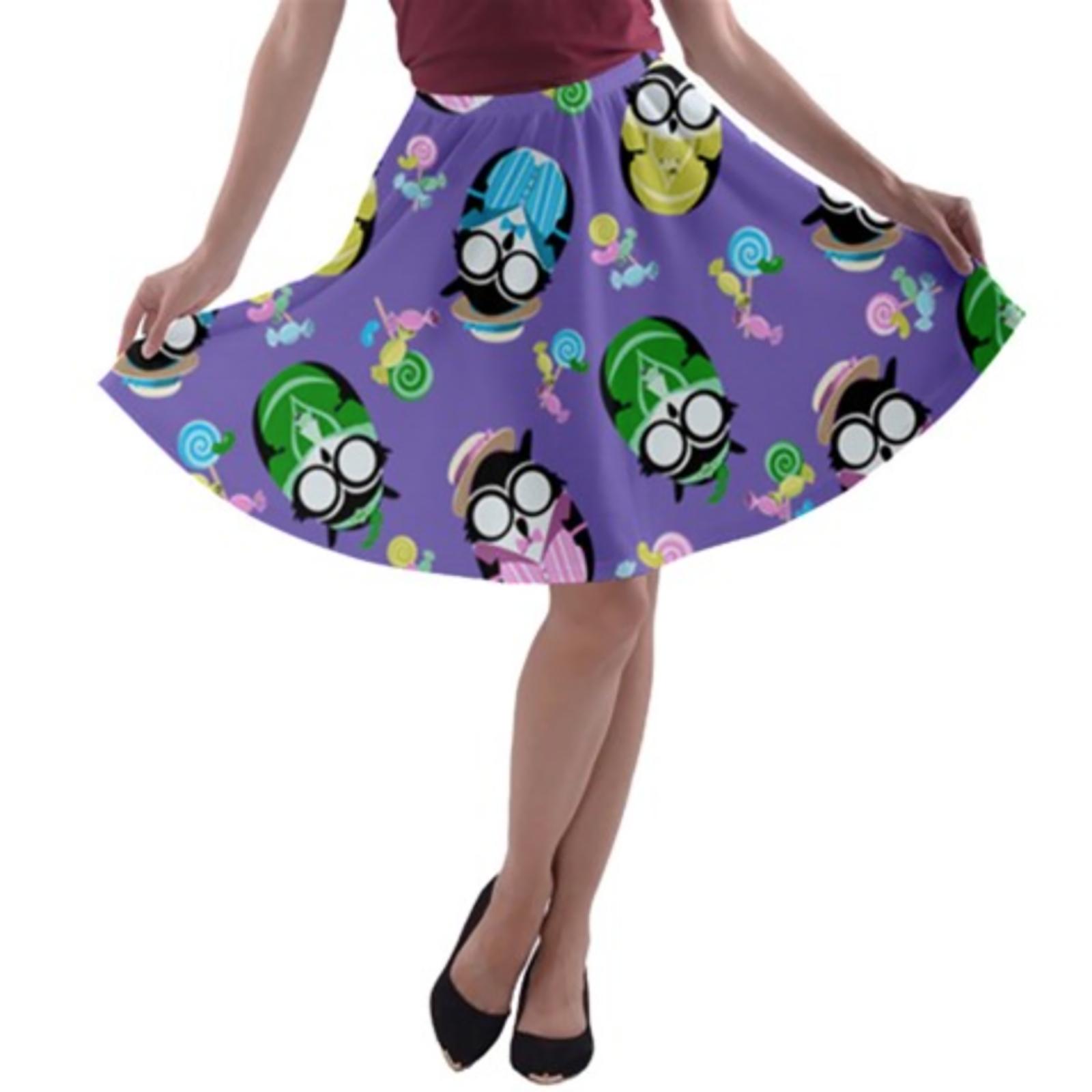 Easter Egg Owl A-line Skater Skirt (Patterned)