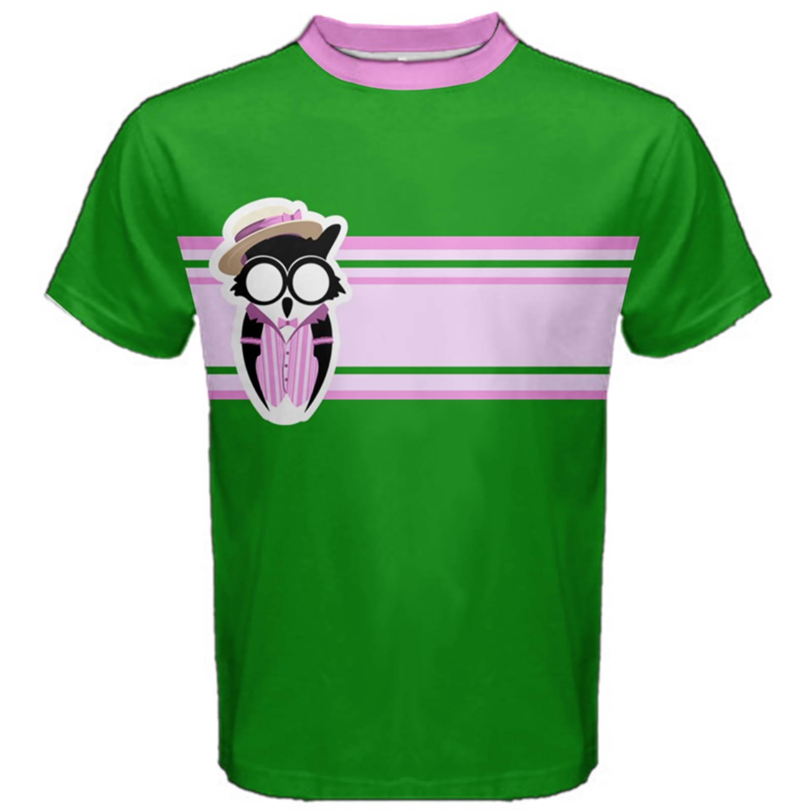 Candy Store Owl Cotton Tee (solid background)