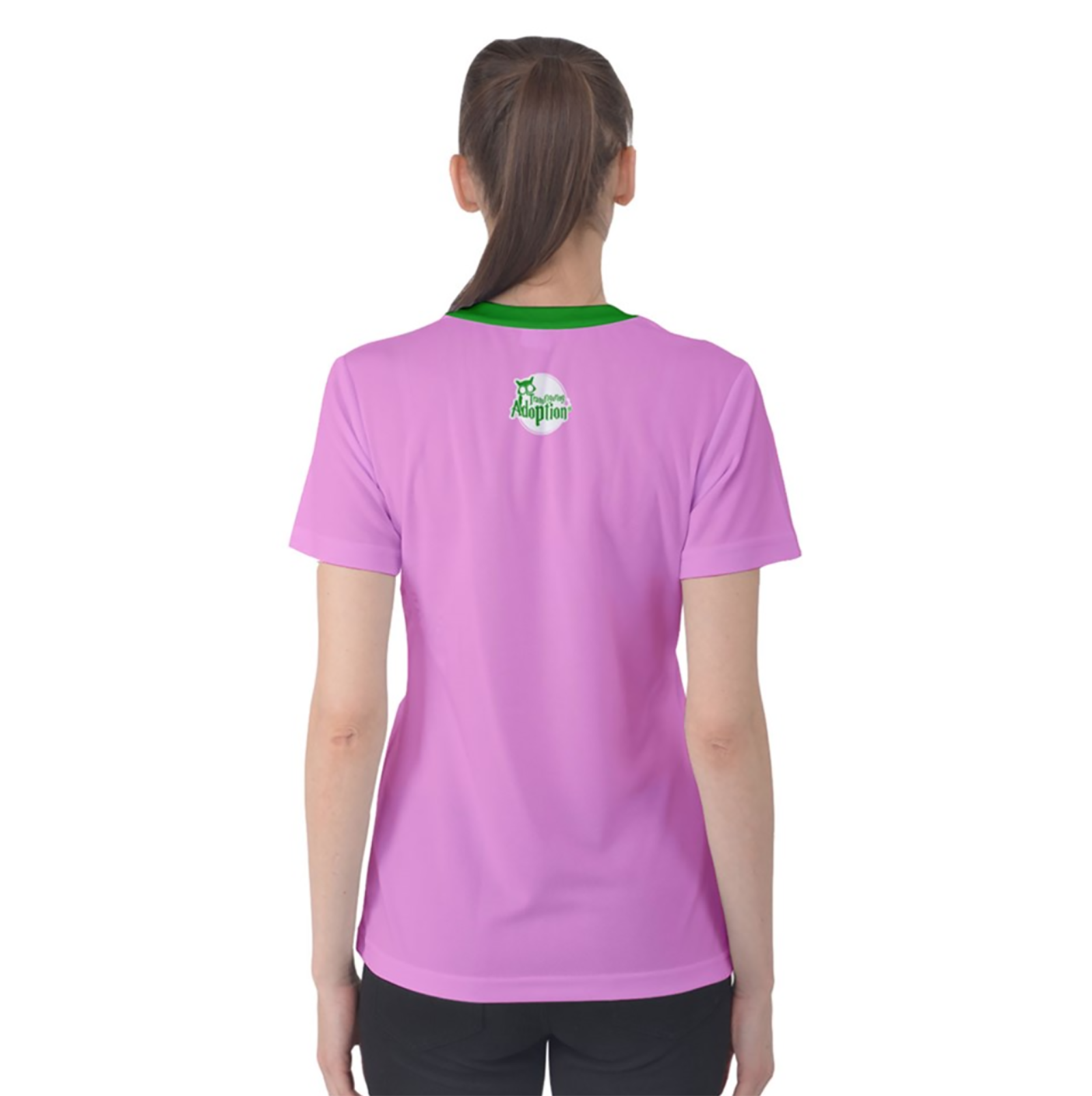 Candy Store Owl Women's Cotton Tee (Solid Background)