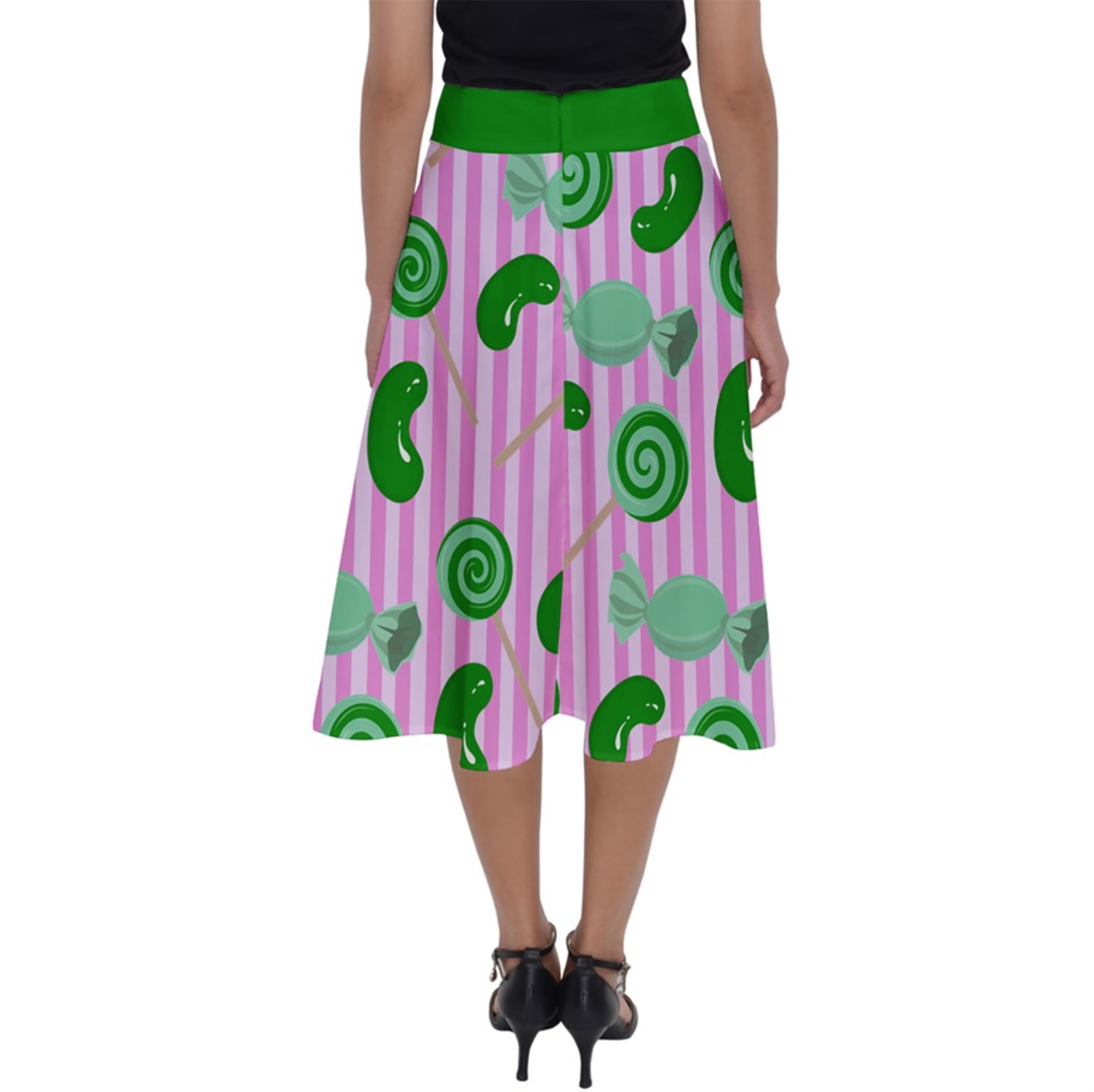 Candy Store Owl Perfect Length Midi Skirt