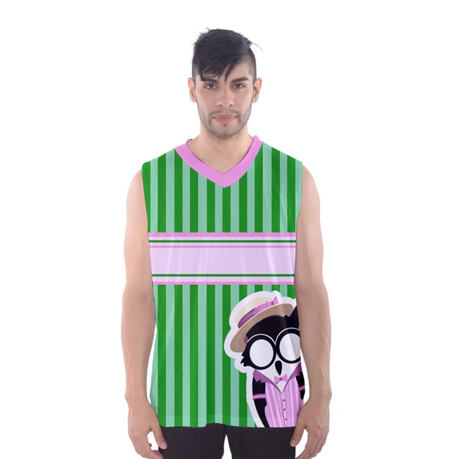 Candy Store Owl Men's Tank Top (striped pattern)