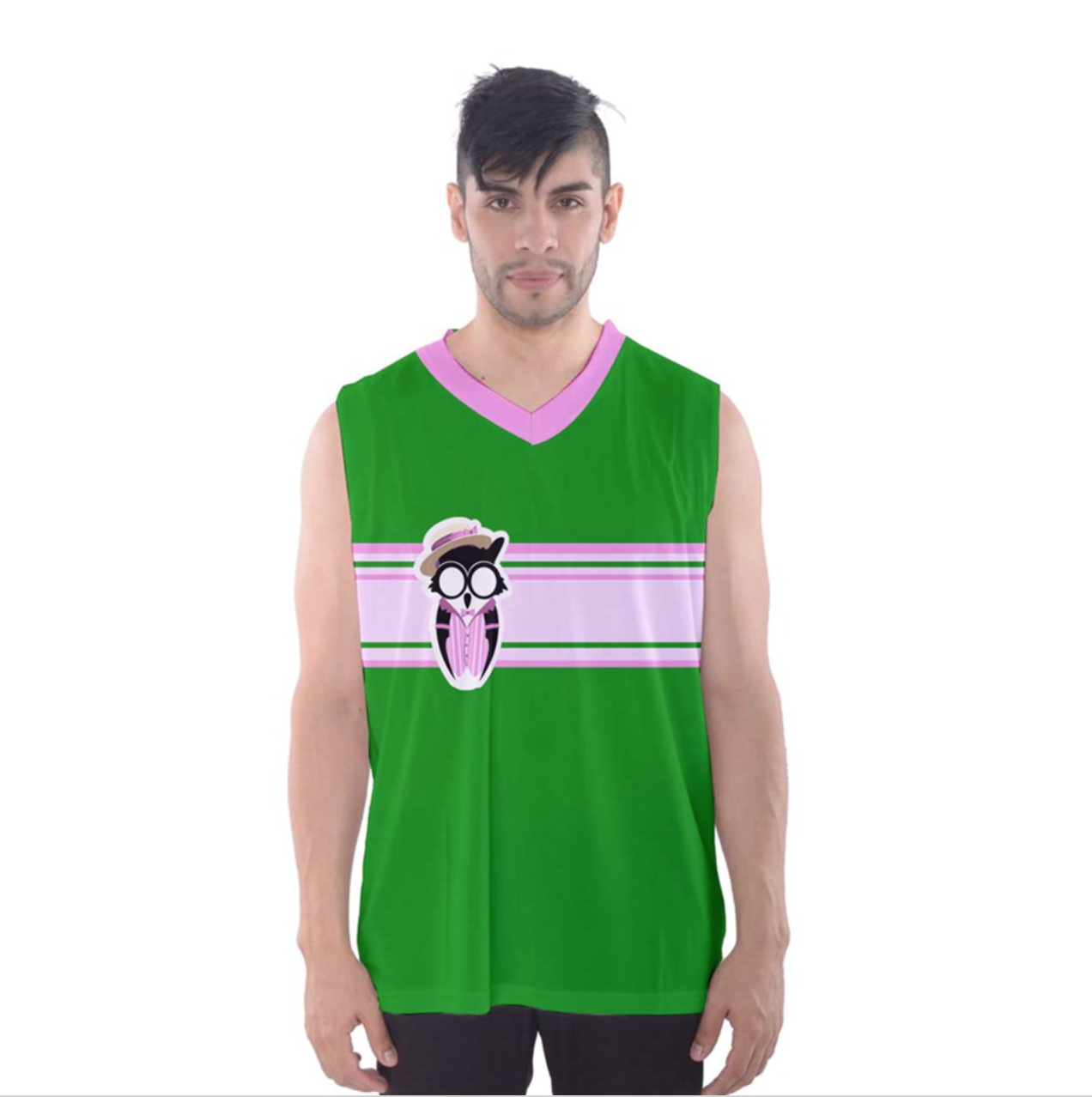 Candy Store Owl Men's Tank Top (solid background)
