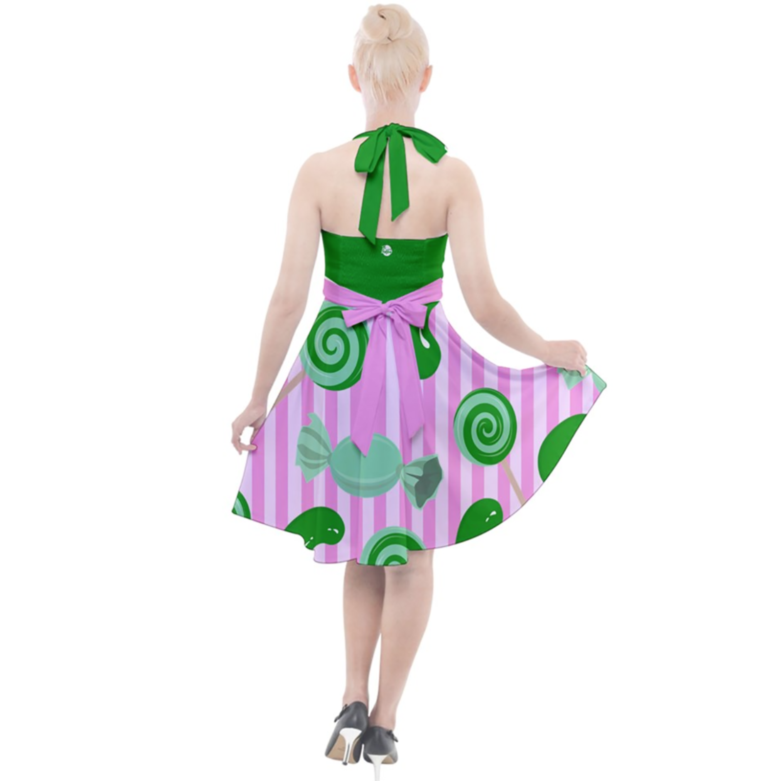 Candy Store Owl Halter Party Swing Dress