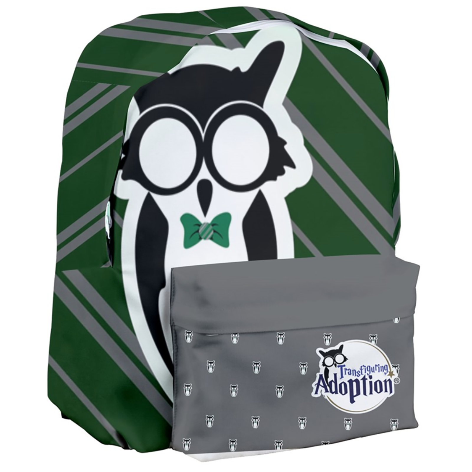 Green & Gray Giant Backpack - Inspired by Slytherin