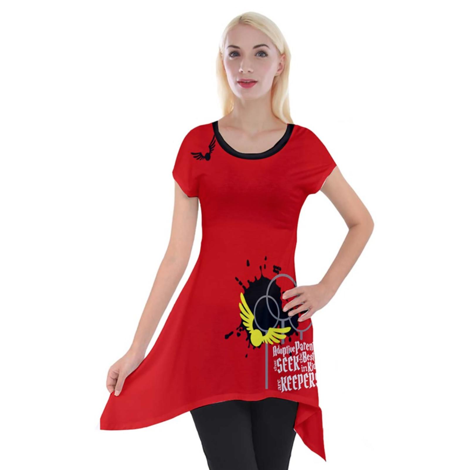 Magical Sports Design Women's Short Sleeve Side Drop Tunic