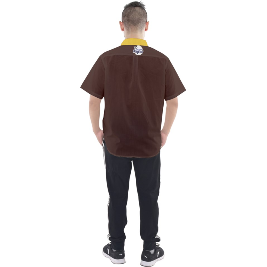 """See The """"TRUE"""" Child Button Up Short Sleeve Shirt (Simple Brown) - Inspired by literary character, Hagrid"""