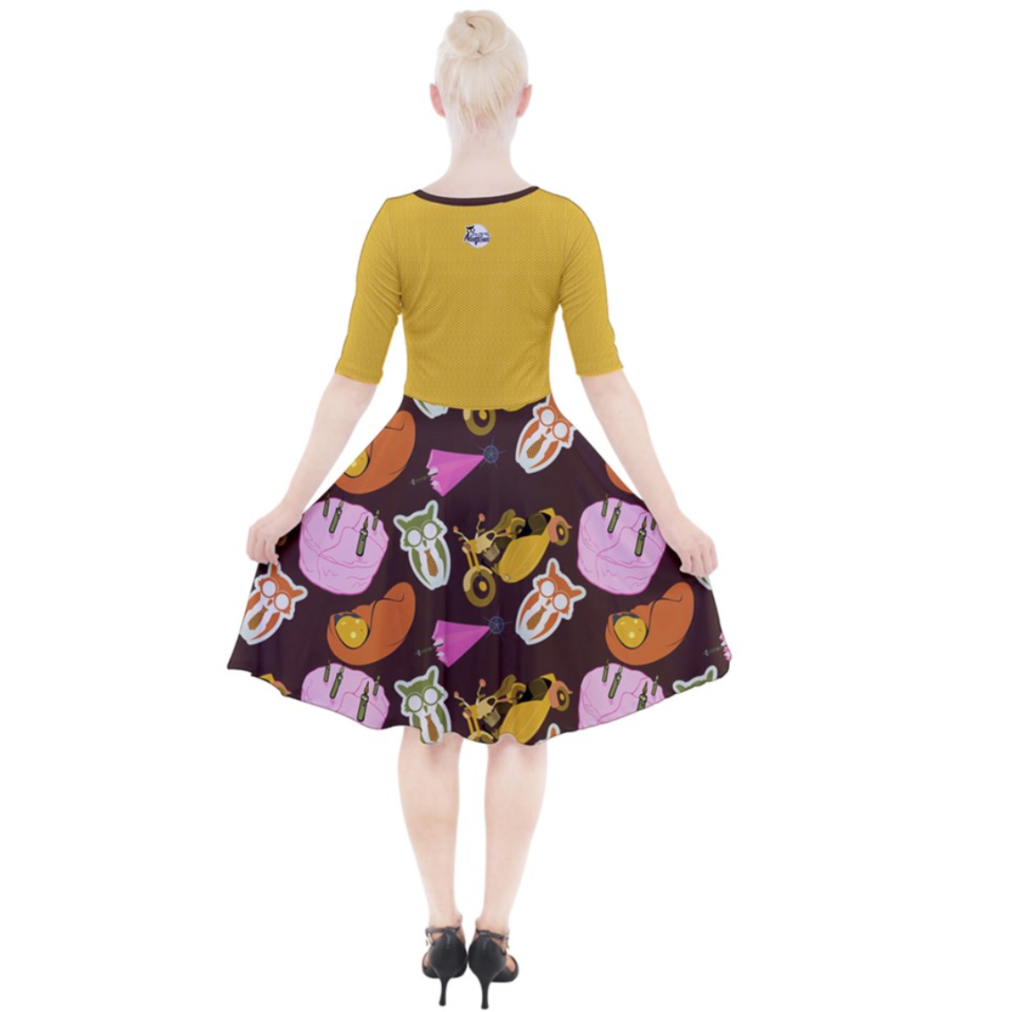"""See The """"TRUE"""" Child (Yellow) Quarter Sleeve A-Line Dress - Inspired by literary character, Hagrid"""
