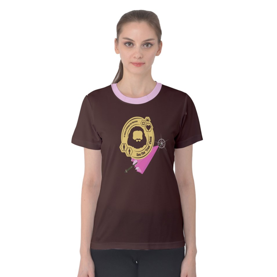 """See The """"TRUE"""" Child (Solid Brown) Women's Cotton Tee - Inspired by Literary Character, Hagrid"""