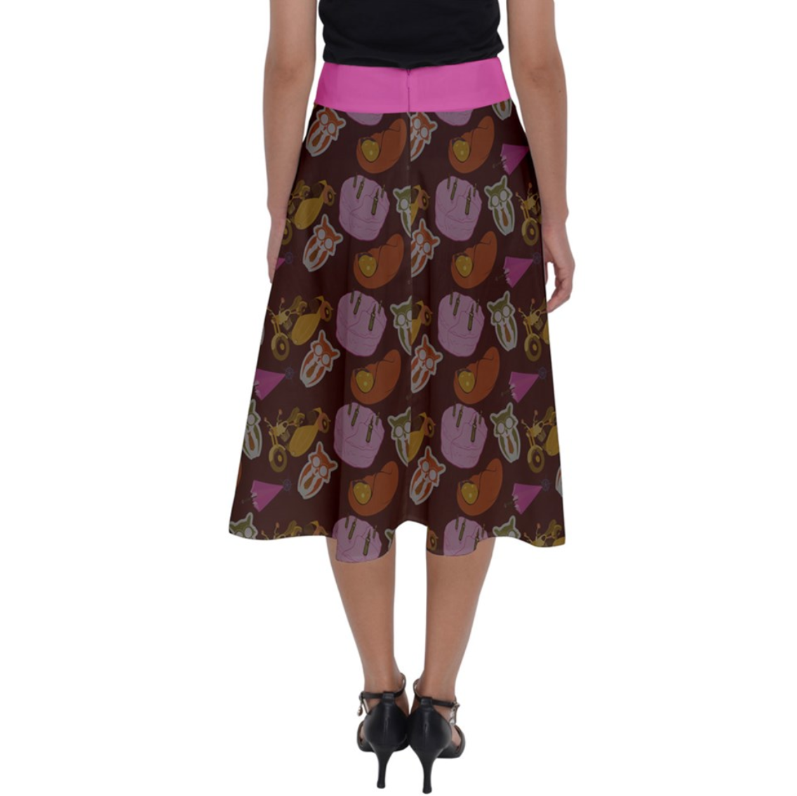 """See The """"TRUE"""" Child Perfect Length Midi Skirt (Patterned) - Inspired by Literary Character, Hagrid"""