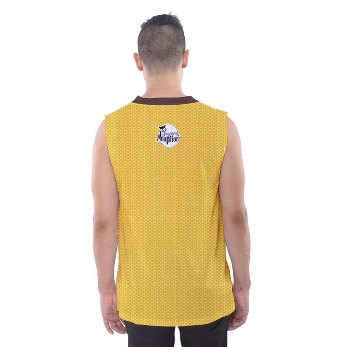 """See The """"TRUE"""" Child - Men's Tank Top (Yellow Background) - Inspired by Literary Character, Hagrid"""
