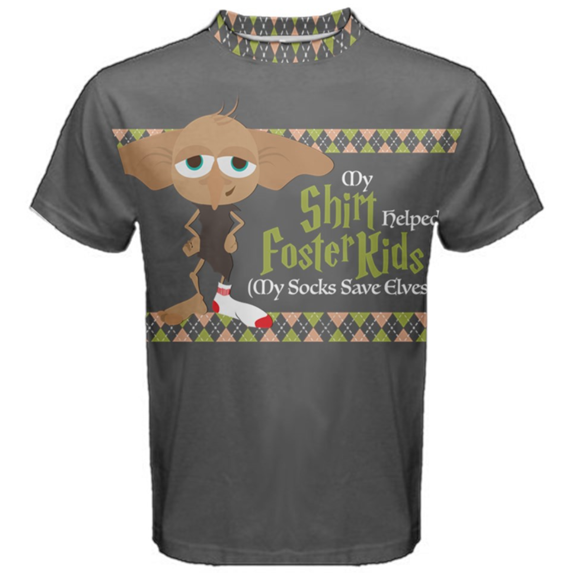 "Elf Shirt - ""My shirt helped a foster family..."" Tee (solid background)"