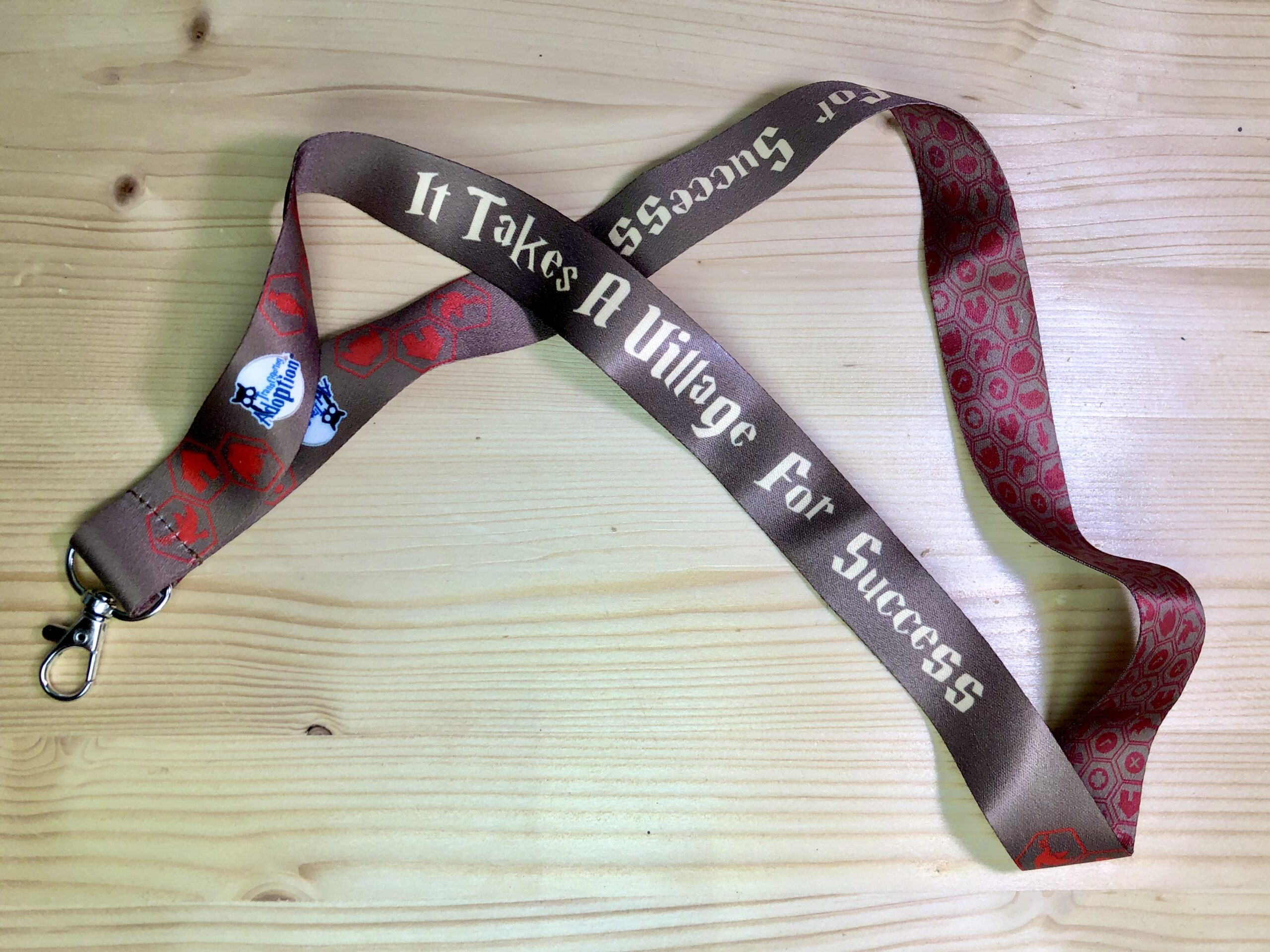 """""""It Takes A Village For Success"""" Lanyard"""