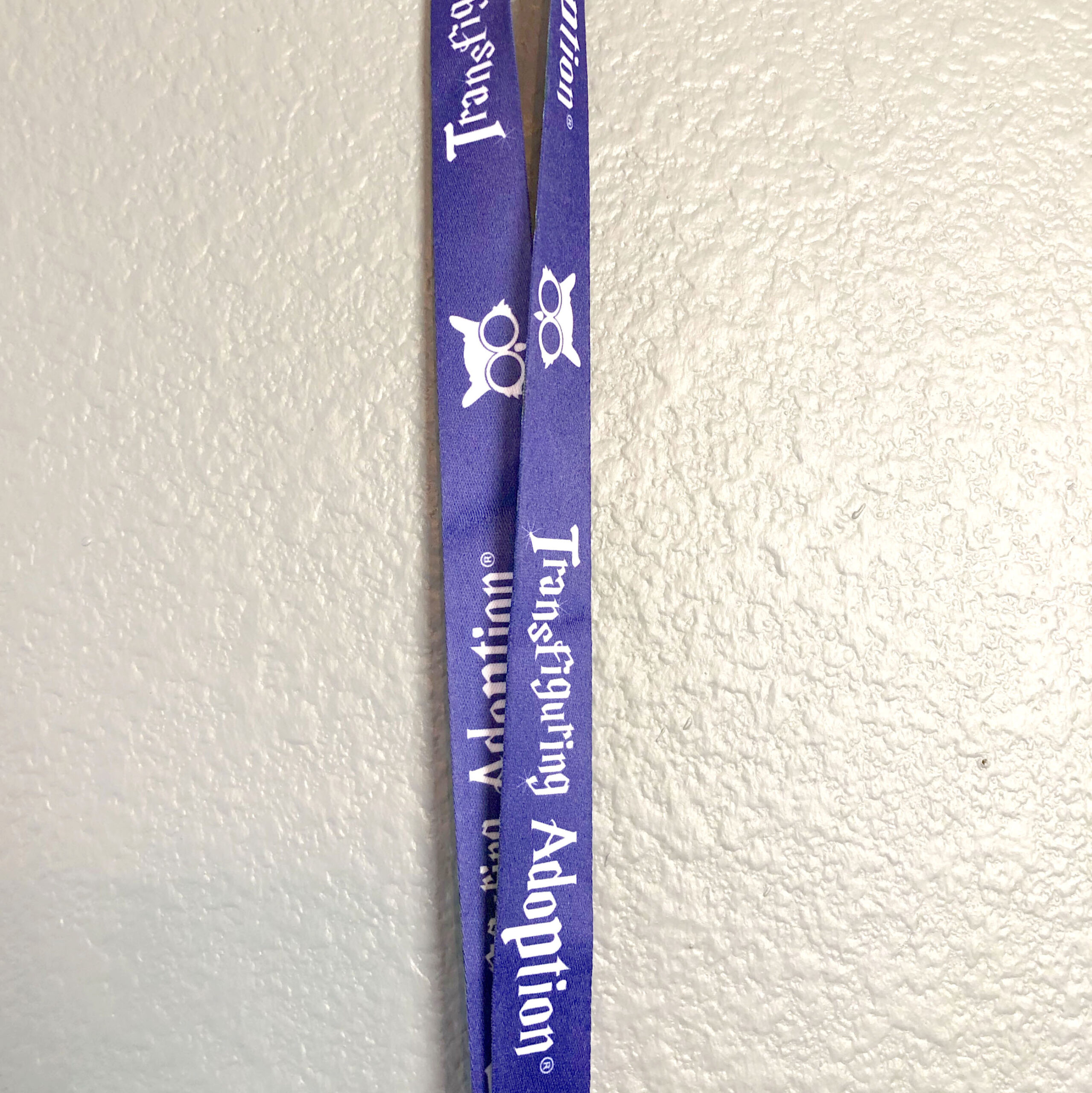 Lanyard with Aluminum Card Holder - Transfiguring Adoption